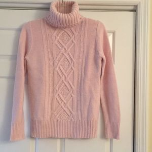 Jcrew pink turtleneck sweater